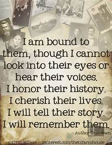 Following The T... Family Genealogy Quotes
