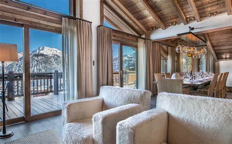 luxury ski chalet chalet cryst aile courchevel 1850 firefly collection