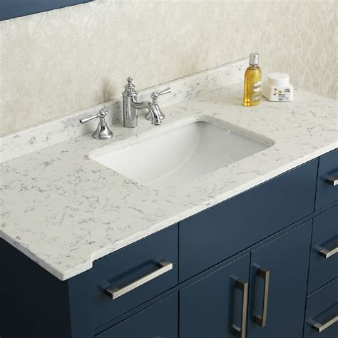 Quartz Bathroom Countertops With Sink Ariel By Seacliff Radcliff 48 Quot Midnight Blue Single Sink