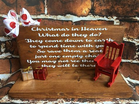 christmas in heaven craft in heaven save a seat plaque by expressionallyforyou on etsy expressionally for you