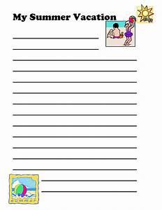 Summer holiday writing