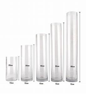 Glasvase 60 Cm Hoch : bulk lot 12 x clear glass vases cylinder 60cm x 10cm wedding event table deco ~ Bigdaddyawards.com Haus und Dekorationen