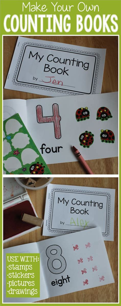 counting books 1 10 make your own number book for 226 | b507147698e7bc4bba9fe82d096a6761 preschool number crafts preschool number activities