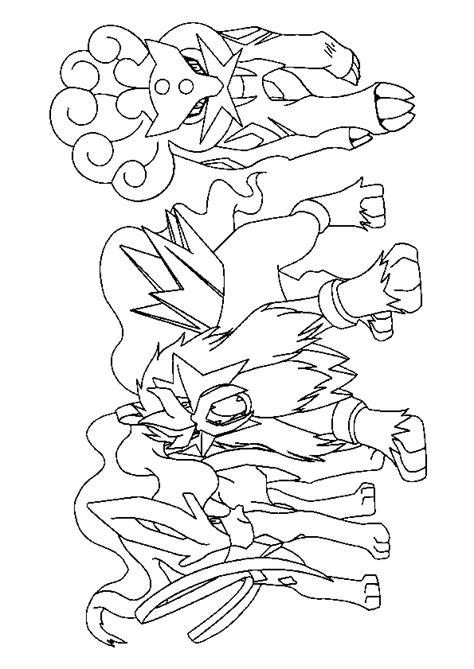 pokémon leggendari disegni da colorare mega evoluzioni coloriage pok 233 mon raikou entai et suicine