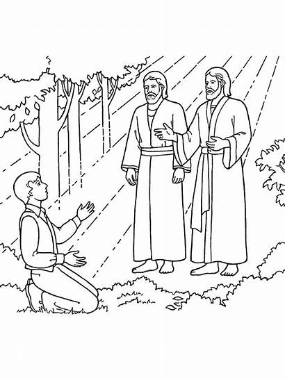 Coloring Jesus Father Vision Joseph Pages Clipart