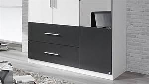 Kleiderschrank Grau Weiß : kleiderschrank alvor schrank in wei grau metallic mit spiegel 136 cm ~ Markanthonyermac.com Haus und Dekorationen