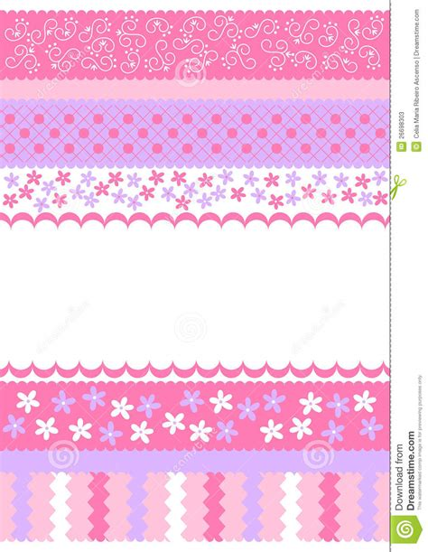pink stripes invitation card stock  image
