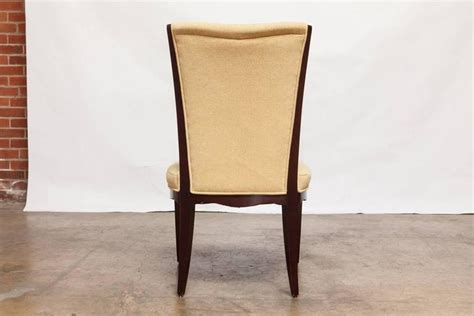 set of six mahogany dining chairs by barbara barry for
