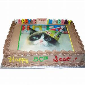 (1556) Grumpy Cat Birthday Cake - ABC Cake Shop & Bakery