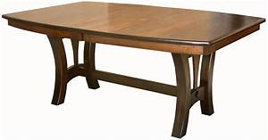 Amish Casual Trestle Dining Table Boat Top Oval Rectangle