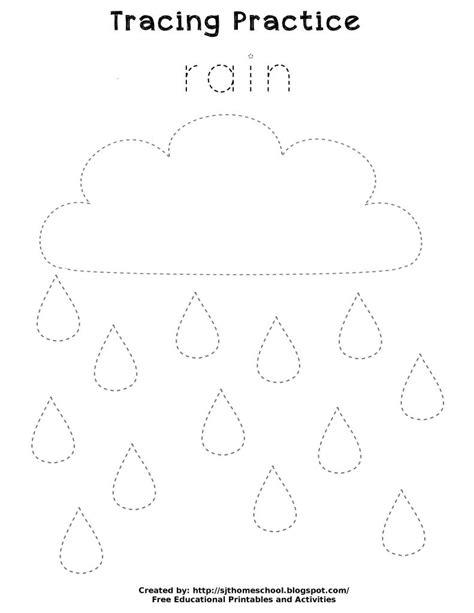13 best images of printable motor skills tracing 102 | rain tracing worksheet kindergarten 589789