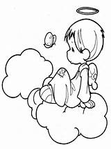Angel Coloring Pages Cute Angels Printable Christmas Getcoloringpages Am sketch template