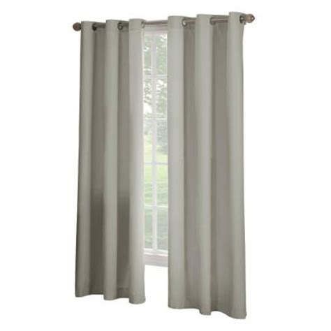Curtain Grommet Kit Home Depot by Solaris Linen Microfiber Grommet Curtain 1 Panel 1627834