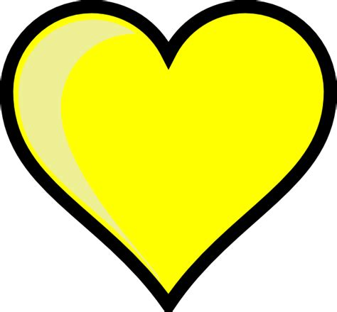yellow heart png hd png mart