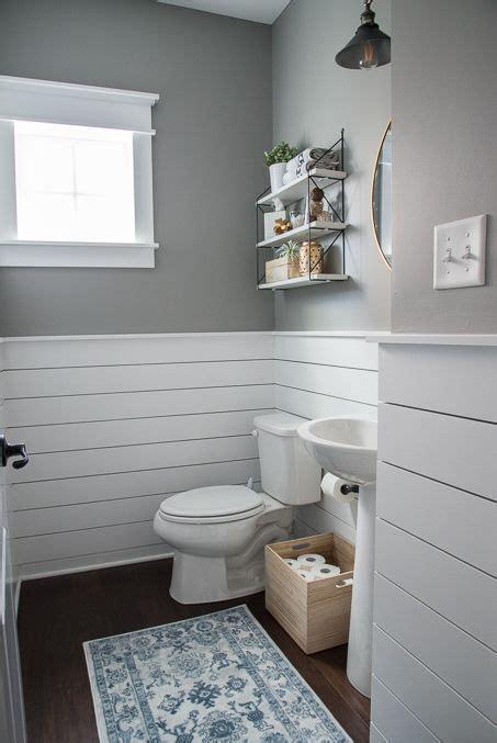 Shiplap For Bathrooms by Fresh Modern Powder Room Reveal Diy House Beautiful