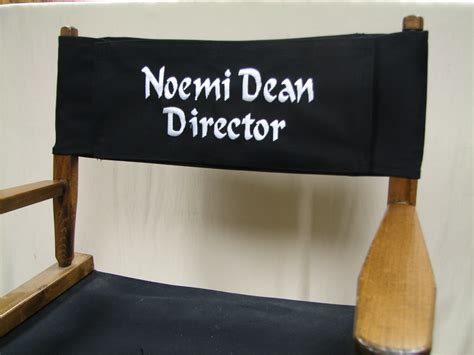 embroidered replacement canvas for directors chair round