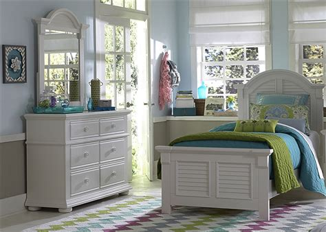 summer house 4 youth bedroom set in oyster white