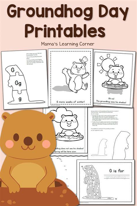 groundhog day printables mamas learning corner