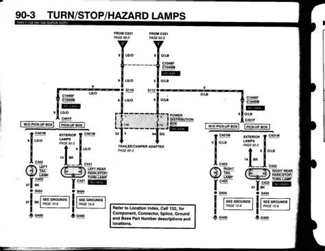 Ford Wiring Diagram For Trailer by Ford F250 Wiring Diagram For Trailer Light
