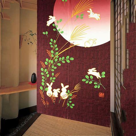 japanese style noren door curtain retro doorway window