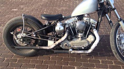 Harley Ironhead Sportster Bobber Cold Start