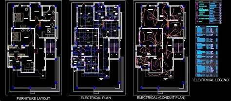 twin house space planning  floor layout dwg