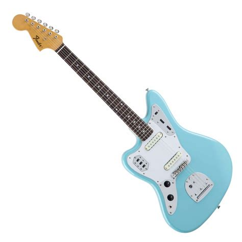 Blue Fender Jaguar by Fender Traditional 60s Jaguar Left Handed Blue