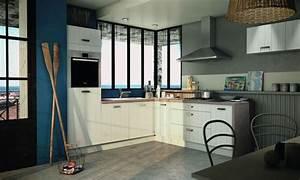 cuisine blanche 13 photos de cuisinistes cote maison With meuble cuisine blanc laque 12 cuisine en chene laque grise meubles lebreton