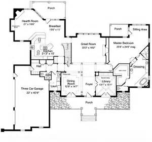 house plan 97756 at familyhomeplans - One Level Luxury House Plans