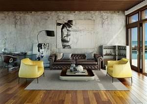 Stylische Bilder Wohnzimmer : das urbane wohnzimmer gro artig und stylisch ~ Sanjose-hotels-ca.com Haus und Dekorationen