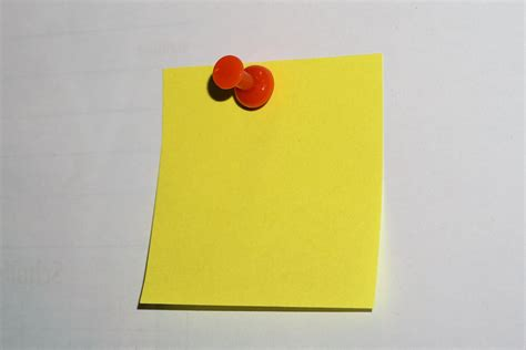 Post It Note yellow free image