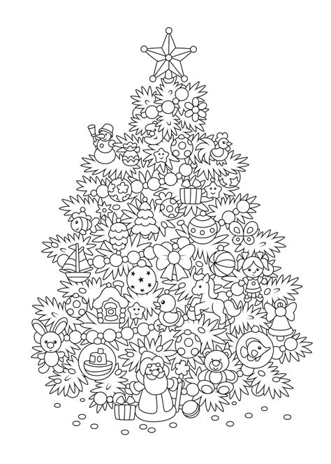 Kleurplaat Kerstboom Met Pakjes by De Allermooiste Kerst Kleurplaten Tijd Met Kinderen