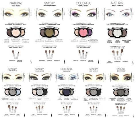 eyeshadow template 9 sephora makeup templates of eyeshadow fab diy tutorials