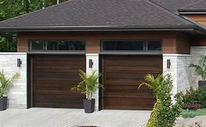 portes de garage en bois sur mesure portes bourassa With porte de garage enroulable et porte bois moderne