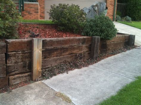 timber retaining wall   house