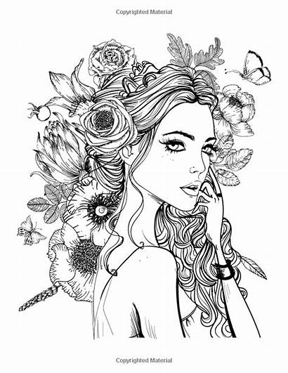 Coloring Pages Faces Adult Face Printable Adults