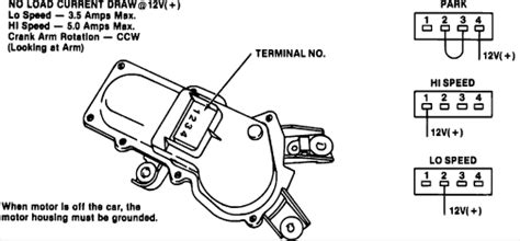 windshield wiper motor wiring diagram impremedia net