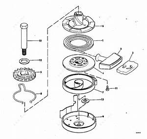 evinrude 1978 15 15854b rewind starter parts catalog With diagram of 1978 dt2c suzuki marine outboard starter diagram and parts