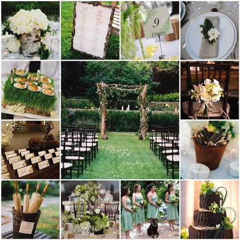 nature wedding themes inside weddings