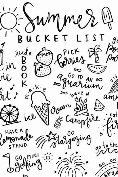 Printable Bucket Summer Coloring Paper Pages Pineapple