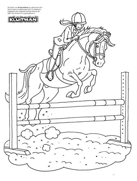 Kleurplaat Paarden Manege by Kleurplaat Manege