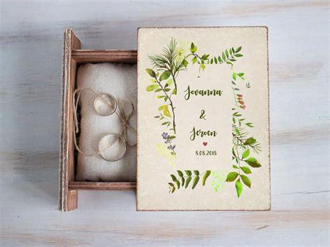 spring wedding ring box personalized ring box custom ring