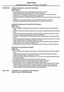 Power System Engineer Resume Pre Silicon Validation Engineer Resume Samples Velvet Jobs