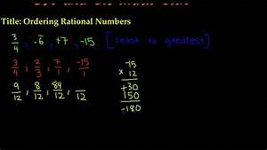 Ordering Rational Numbers - 7th Grade Math