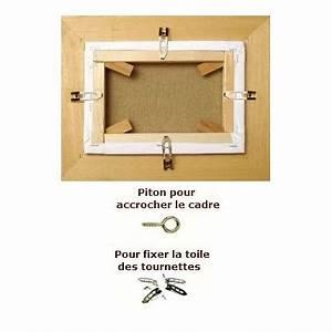 Accrocher Cadre Sans Percer : accrocher un cadre free accrocher un tableau au mur ~ Nature-et-papiers.com Idées de Décoration