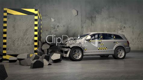 crash teste siege auto car crash test royalty free and stock footage