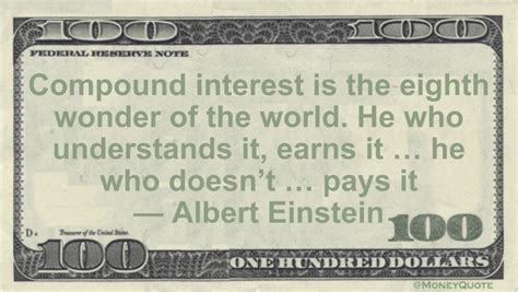 albert einstein compound interest  money quotes