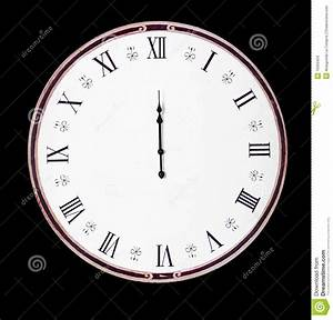 Old Vintage Midnight Clock Royalty Free Stock Images