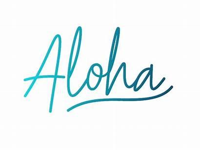 Aloha Sticker Tropical Hawaii Dribbble Animated Welcome