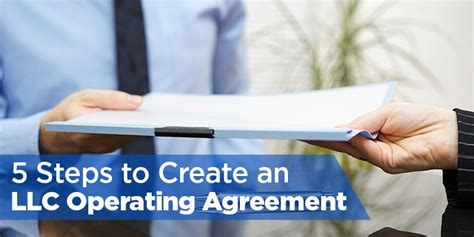 create  llc operating agreement   steps  template